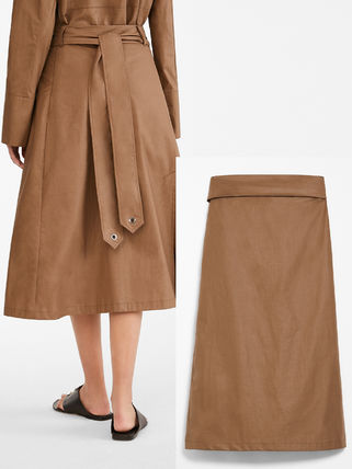 Diffusione Tessile Casual Style Plain Cotton Office Style Elegant Style Skirts