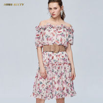 MISS SIXTY Flower Patterns Flared Party Style Dresses