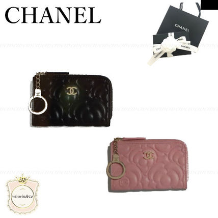 CHANEL Leather Logo Keychains & Bag Charms