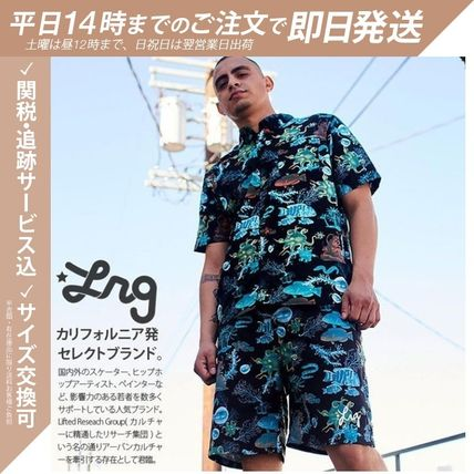 Button-down Skull Tropical Patterns Unisex Street Style
