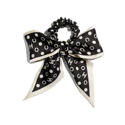 CHANEL Formal Style  Scrunchy Casual Style Office Style Elastics