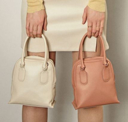 Crossbody Casual Style 2WAY Plain Leather Party Style Purses
