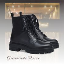 Gianvito Rossi Casual Style Leather Elegant Style Flat Boots