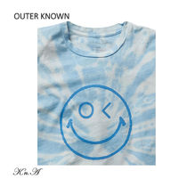 Outer known Long Sleeve Crew Neck Pullovers Street Style Tie-dye Long Sleeves Cotton 4