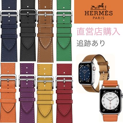 HERMES Unisex Collaboration Leather Apple Watch Belt Watches