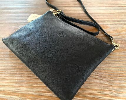 Crossbody Casual Style 3WAY Plain Leather Shoulder Bags