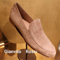 Gianvito Rossi Plain Toe Casual Style Suede Blended Fabrics Plain Leather