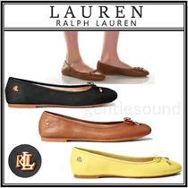 Ralph Lauren Round Toe Casual Style Plain Leather Office Style