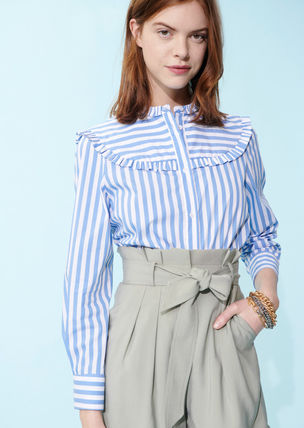 Stripes Casual Style Office Style Elegant Style
