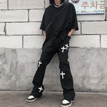 Printed Pants Street Style Cotton Oversized Patterned Pants