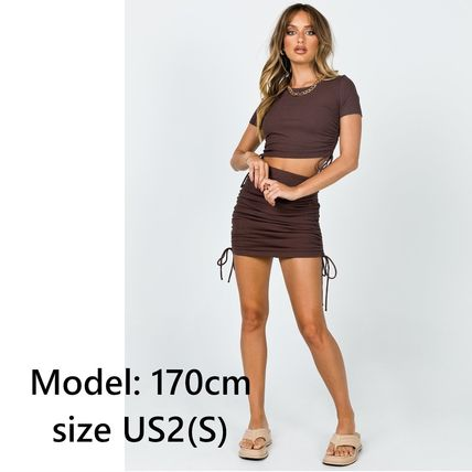Princess Polly Short Plain Short Sleeves Elegant Style Co-ord Loungewear