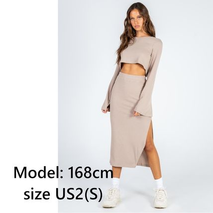 Princess Polly Short Casual Style Tight Long Sleeves Plain Elegant Style