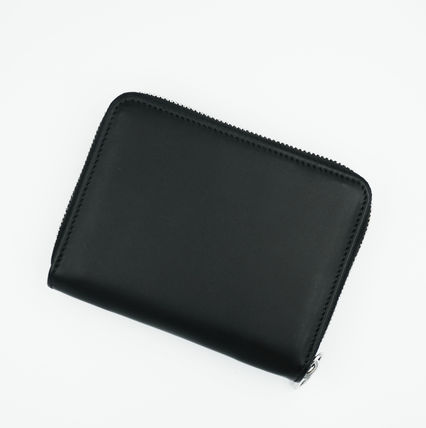 Folding Wallet Unisex Plain Leather Folding Wallets