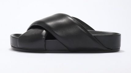 Jil Sander Plain Leather Logo Sandals