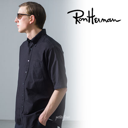 Ron Herman Front Button Surf Style Button-down Plain Short Sleeves