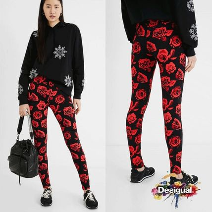 Desigual Printed Pants Flower Patterns Casual Style Street Style Long