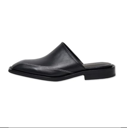 ANDERSSON BELL Logo Unisex Plain Leather Street Style Loafers & Slip-ons
