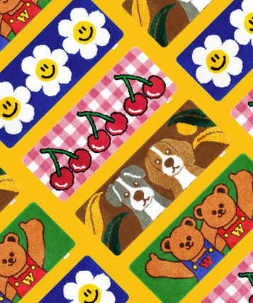 wiggle wiggle Round Bath Mats & Rugs Kitchen Rugs Outdoor Mats & Rugs