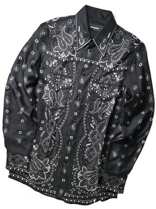 D SQUARED2 Paisley Silk Long Sleeves Luxury Shirts
