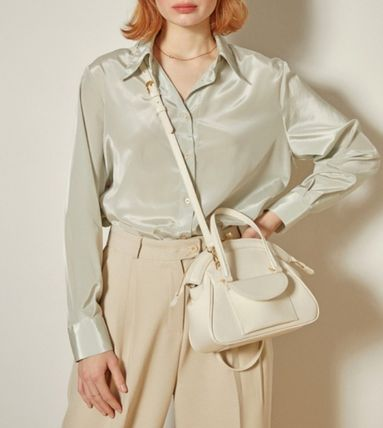 Casual Style 2WAY Plain Leather Party Style Office Style