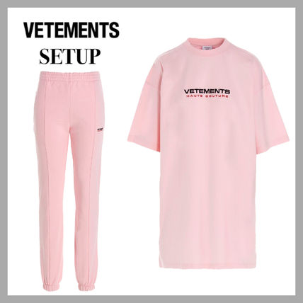 VETEMENTS Unisex Street Style Sweats Two-Piece Sets