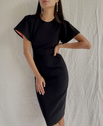 Casual Style Tight Plain Medium Short Sleeves Party Style
