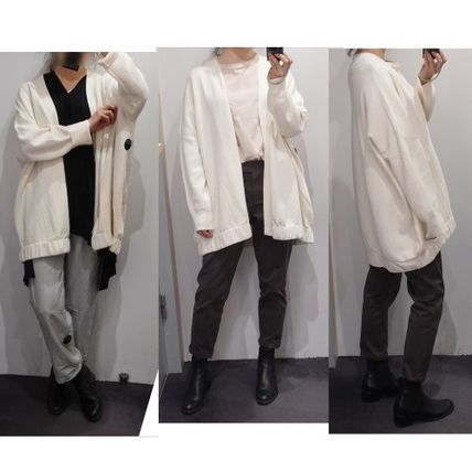 Loungewear Casual Style Plain Office Style Cardigans