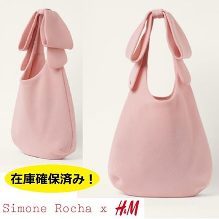 H&M Handbags Collaboration A4 Plain Party Style With Jewels Office Style