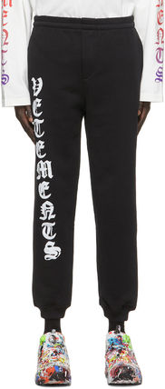 VETEMENTS Logo Plain Cotton Street Style Pants