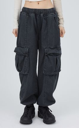 Raucohouse Slax Pants Unisex Denim Street Style Collaboration Plain