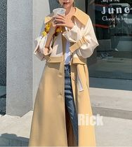 Stand Collar Coats Casual Style Long Office Style Oversized