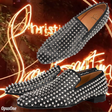 Christian Louboutin DANDELION Loafers Street Style Leather Logo Loafers & Slip-ons