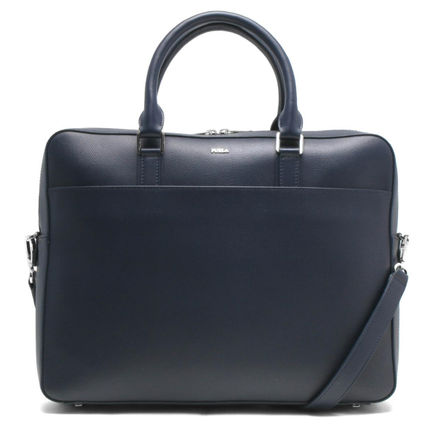 FURLA 2WAY Plain Leather Logo Business & Briefcases