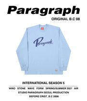 Paragraph Unisex Street Style Long Sleeves Cotton Long Sleeve T-shirt