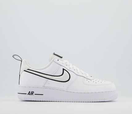 Nike AIR FORCE 1 Blended Fabrics Street Style Leather Logo Sneakers