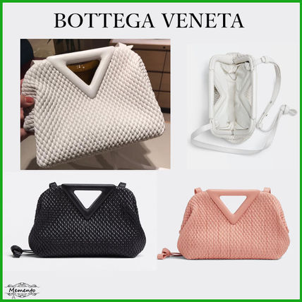 BOTTEGA VENETA Casual Style Lambskin 2WAY Plain Leather Office Style