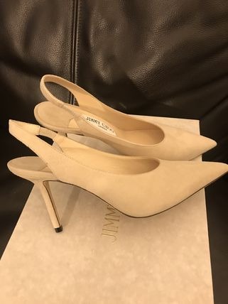 Jimmy Choo Mules Formal Style  Bridal Casual Style Suede Plain Leather