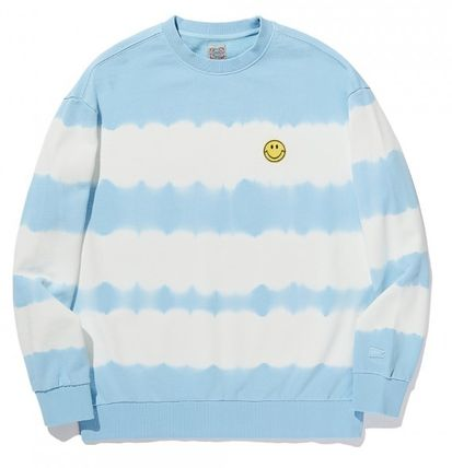 Stripes Street Style Collaboration Long Sleeves Cotton Logo