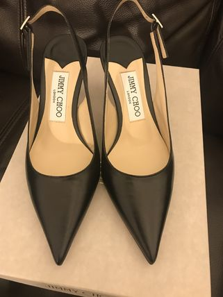 Jimmy Choo Casual Style Plain Leather Pin Heels Party Style