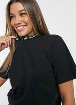 THE NORTH FACE Street Style Plain Cotton Short Sleeves High-Neck Logo