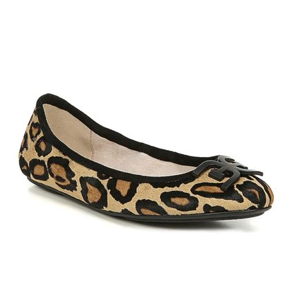 Leopard Patterns Round Toe Casual Style Leather Party Style