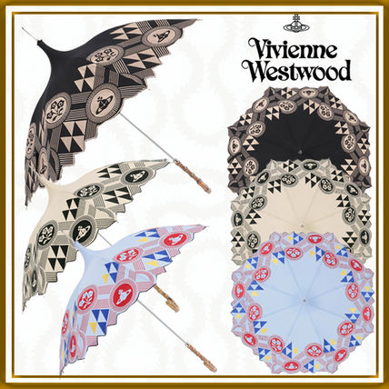 Vivienne Westwood Logo Flower Patterns Umbrellas & Rain Goods