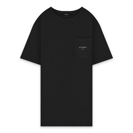 Crew Neck Unisex Street Style Plain Cotton Short Sleeves