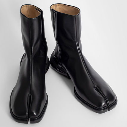 Maison Margiela Mountain Boots Street Style Plain Leather Chelsea Boots