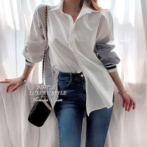 Stripes Puff Sleeves Shirts & Blouses