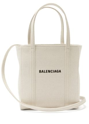 BALENCIAGA EVERYDAY TOTE Canvas 2WAY Plain Logo Totes