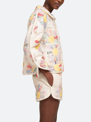 Short Flower Patterns Casual Style Medium Party Style
