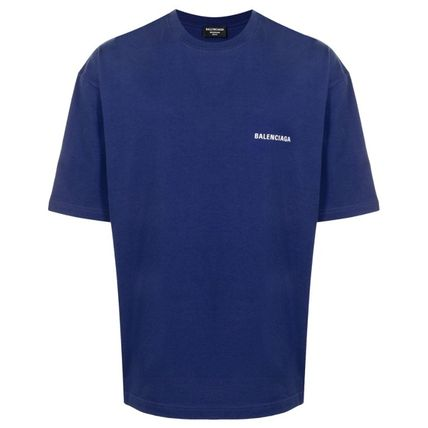 BALENCIAGA Logo Luxury Crew Neck Cotton Crew Neck T-Shirts