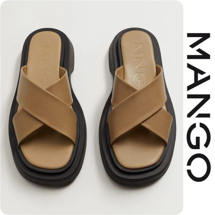 Casual Style Leather Street Style Elegant Style Sandals