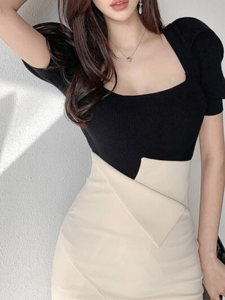 Pencil Skirts Casual Style Plain Long Office Style
